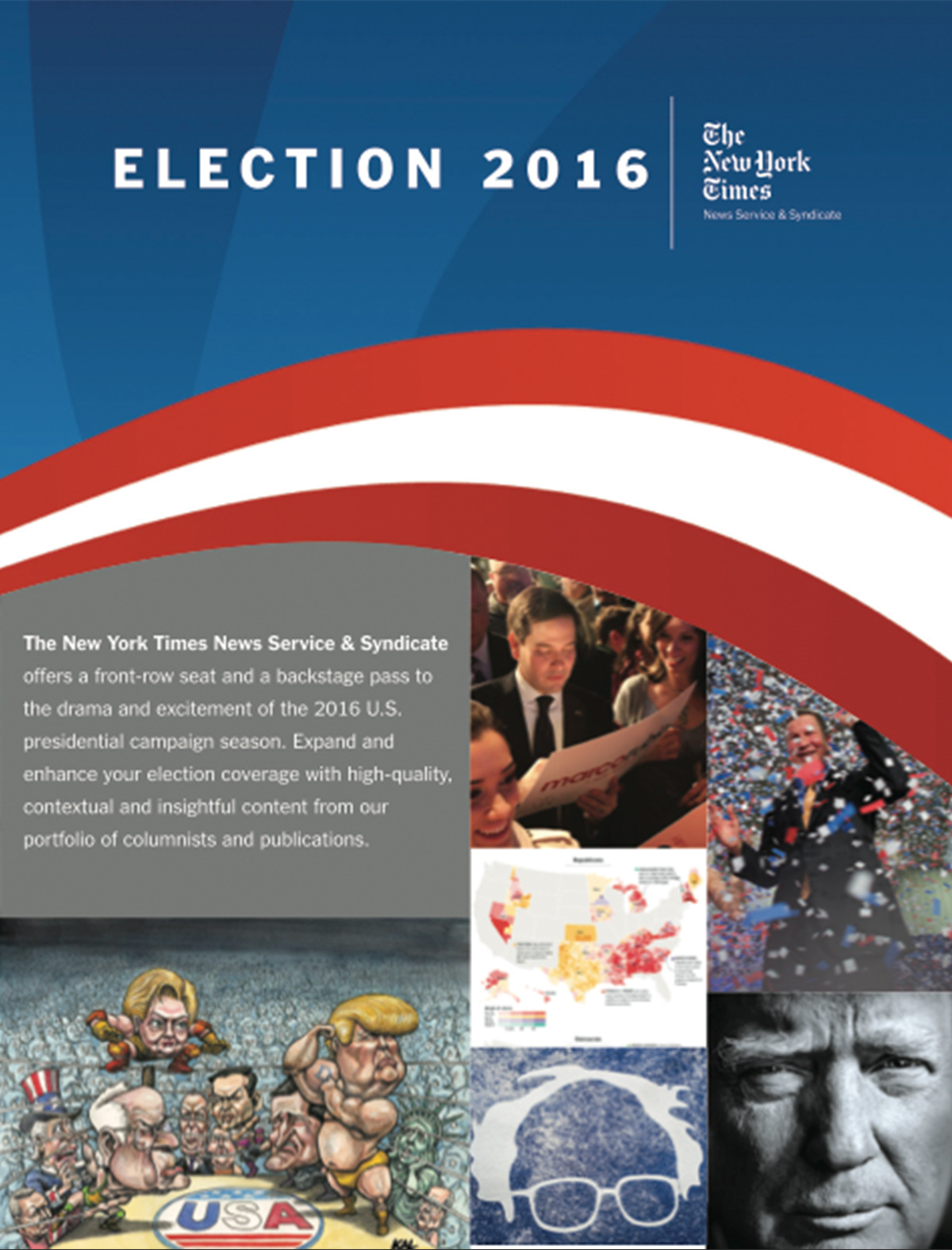 The New York Times Election Brochure Graphic Design Illustration – Election Brochure